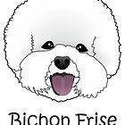 Bichon Frise Cartoon Dog Illustration  by Catherine Roberts