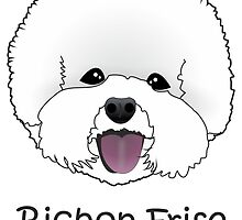 Bichon Frise Cartoon Dog Illustration  by Samantha Harrison