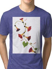 Kathie McCurdy Pressed Flowers Morning Glory Vine Tri-blend T-Shirt