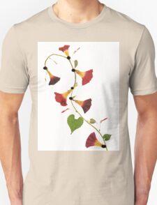 Kathie McCurdy Pressed Flowers Morning Glory Vine Unisex T-Shirt