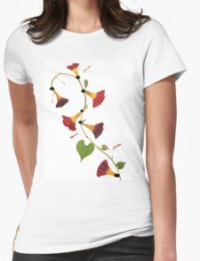 Kathie McCurdy Pressed Flowers Morning Glory Vine T-Shirt