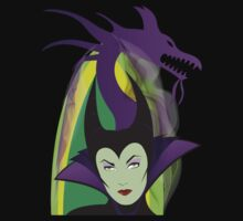 Maleficent Illustration t-shirt by Topher Adam by TopherAdam