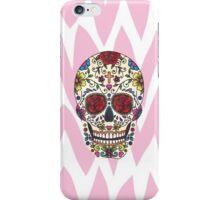 Sugar Skull Chevron Pattern iPhone Case/Skin