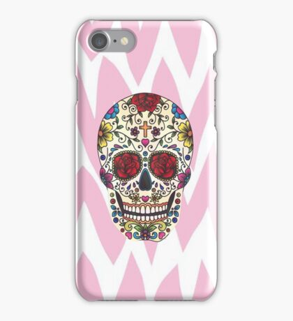 Sugar Skull Chevron Pattern iPhone Case/Skin