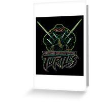 Neon Raphael - TMNT Greeting Card