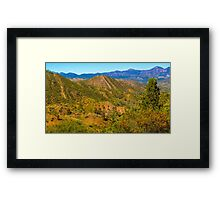 ABC Range Framed Print
