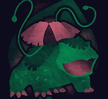 Grass Venusaur by jozvozdesign