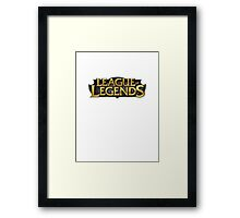 most relevant League of legends tshirt (cheap) Framed Print