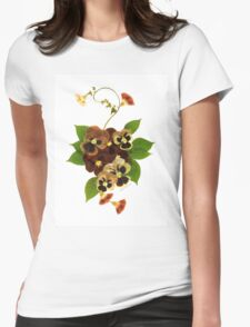 Kathie McCurdy Pansy Bouquet T-Shirt