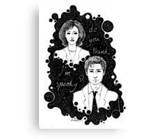x files: do you think i'm sp00ky Canvas Print