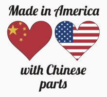 Made In America With Chinese Parts Kids Tee