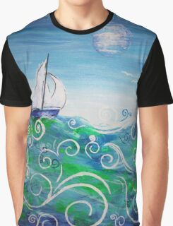 Sailing by Jan Marvin Graphic T-Shirt