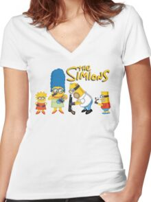 The Simions Women's Fitted V-Neck T-Shirt