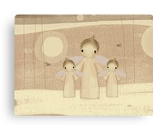 trio of angels Canvas Print