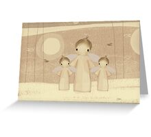trio of angels Greeting Card