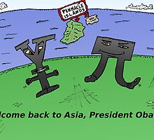 Yen Yuan and Obama in Asia by Binary-Options