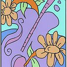 Flower Guitar by Tracey Pearce