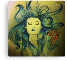 The Mermaid and the Fish Canvas Print