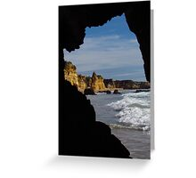 Atlantic Rocks and Wave  Greeting Card
