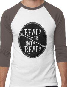 Real Men's Baseball ¾ T-Shirt