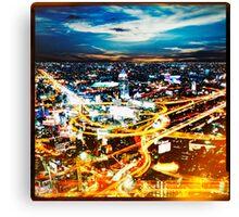 Bangkok city in twilight Canvas Print