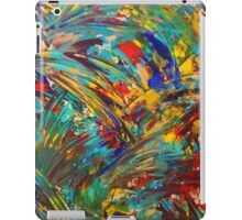 FIREWORKS IN COLOR - Bold Abstract Acrylic Painting Lovely Masculine Colorful Splash Pattern Gift iPad Case/Skin