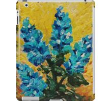SHADES OF BLOOM - Stunning Acrylic Floral Abstract Modern Home Decor Hyacinths Bold Color Garden  iPad Case/Skin