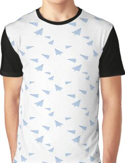 Paper Airplane Doodle  Graphic T-Shirt