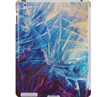 NIGHT FLOWERS - Beautiful Midnight Florals Feathers Eggplant Lilac Periwinkle Cream Modern Abstract iPad Case/Skin