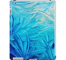 WATER FLOWERS - Beautiful Water Ocean Theme Shades Blue Floral Modern Design Abstract Painting iPad Case/Skin