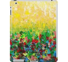 NATURE'S LIVING ROOM - Gorgeous Bright Bold Nature Wildflower Field Landscape Abstract Art  iPad Case/Skin