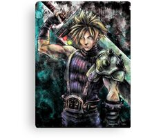 Cloud Painting Portrait  Canvas Print