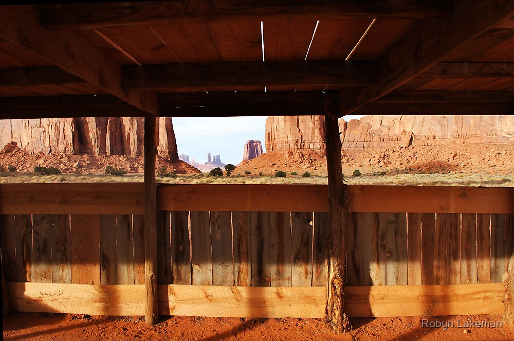 North window  through a Navajo shelter by Robyn Lakeman
