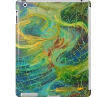NAUTICAL GALAXY - Beautiful Aquatic Blue Green Ocean Universe Abstract Painting Gift Decor iPad Case/Skin