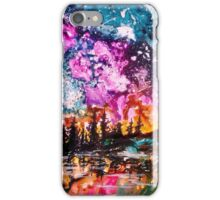 Northern Lights Sky; Ink on Yupo iPhone Case/Skin