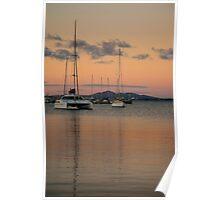 Eastern Beach Sunset Poster