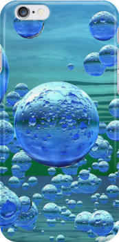 Blue Bubbles by TinaGraphics