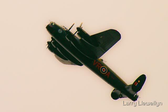 A Lancaster Bomber.. a real War Bird.. by Larry Llewellyn