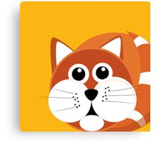 Fat Furry Cat Puss Canvas Print