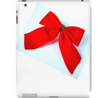 Red Christmas Bow iPad Case/Skin