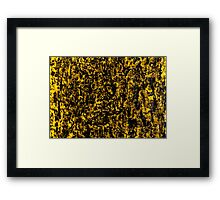 Yellow Colour Abstract Wood and Rain Water Framed Print