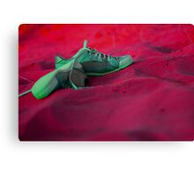 Sneakers on a dune Canvas Print