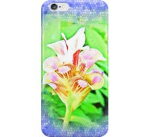 Dimensional surface painting pink flowers iPhone Case/Skin