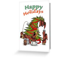 Happy Holidays from your little friends Greeting Card