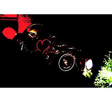 Instead of Scrapyard Heaven ~ 'Time' ~ black and red Photographic Print