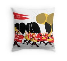Coldstream Guards marching band Throw Pillow