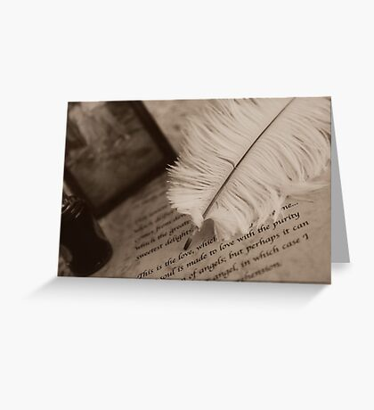 The old QUILL Greeting Card