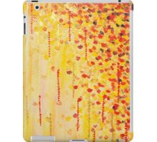 WHEN IT FALLS Bold Autumn Winter Leaves Abstract Acrylic Painting Christmas Red Orange Gold Gift iPad Case/Skin