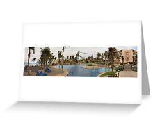 Resort Kaiju Battle Greeting Card