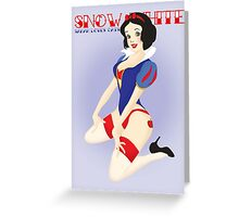 Snow White Pin Up Greeting Card